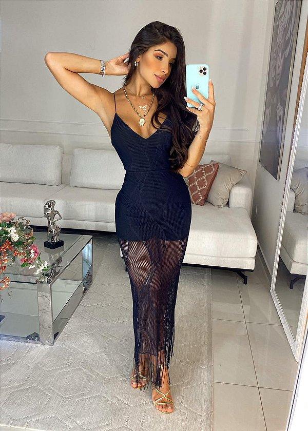 Vestido Franja Macrame