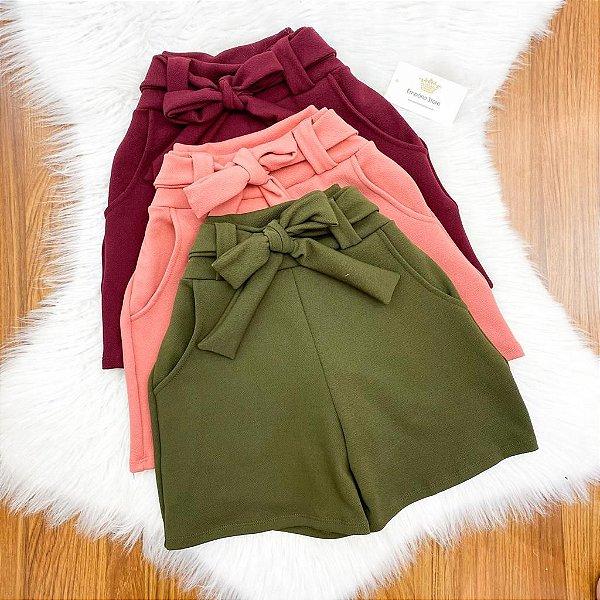 Shorts Crepe ( Diversas  Cores)