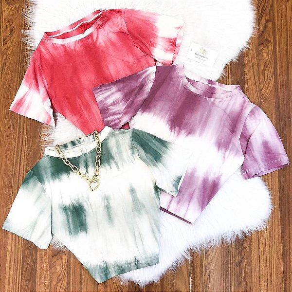 Cropped Viscomalha Tie Dye (Diversas Cores)