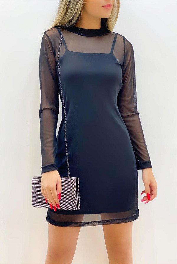 Vestido 2 Peças Tule