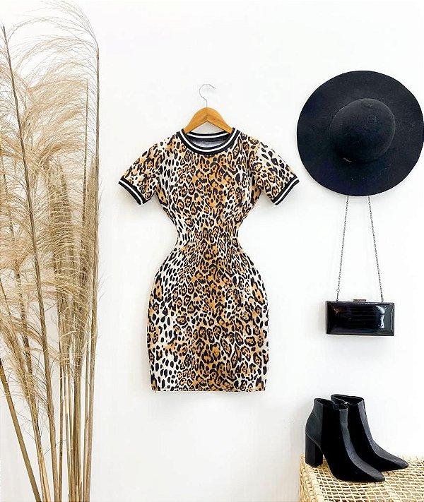 Vestido Animal Print Suplex