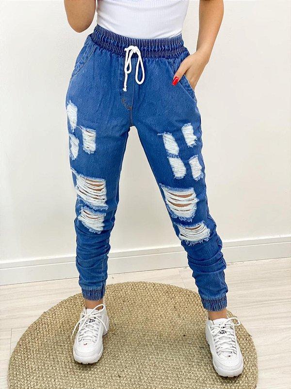 Calça Jogger Jeans