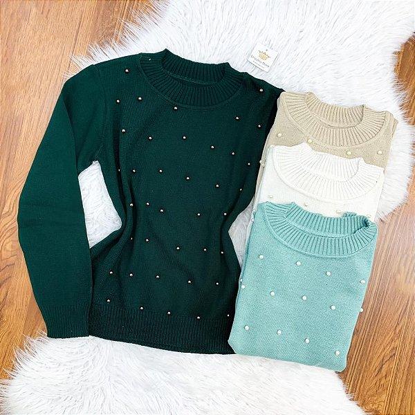Blusa Tricot Perola (Diversas Cores)