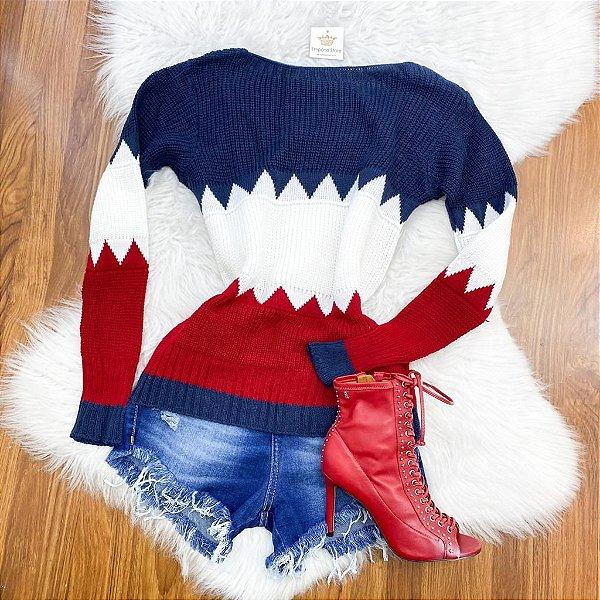 Blusa Bicolor Tricot