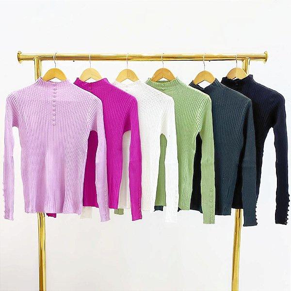Blusa Tricot Modal (Diversas Cores)
