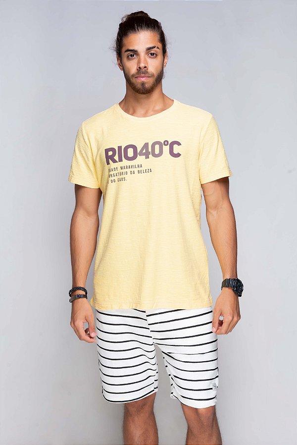 Camiseta Azor Rio 40 Graus Flamê