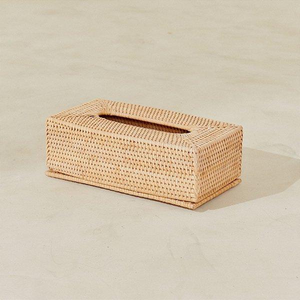 Caixa Rattan Porta Kleenex 28X15X9