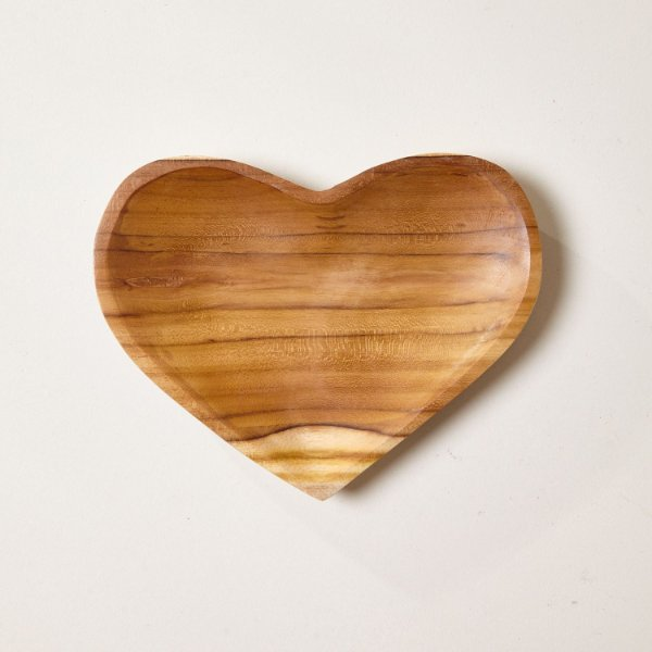 Prato Madeira Coração