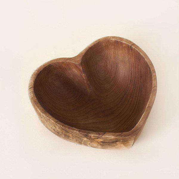 Bowl Madeira Coração