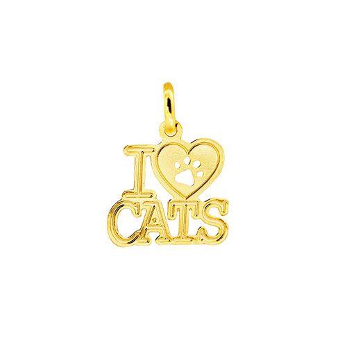 "Pingente PETS "" I LOVE CATS"""