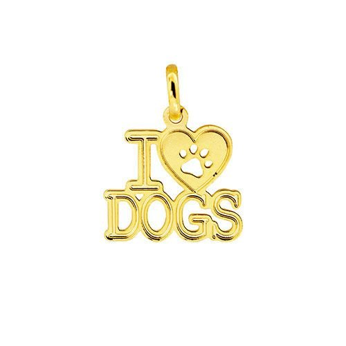 """Pingente PETS """"I LOVE DOGS"""""""