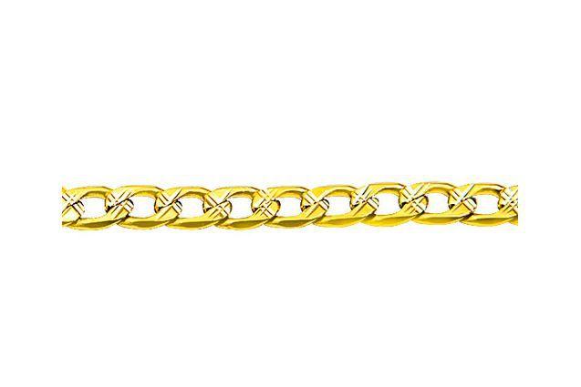 Corrente Tipo Grume com Detalhes Diamantado