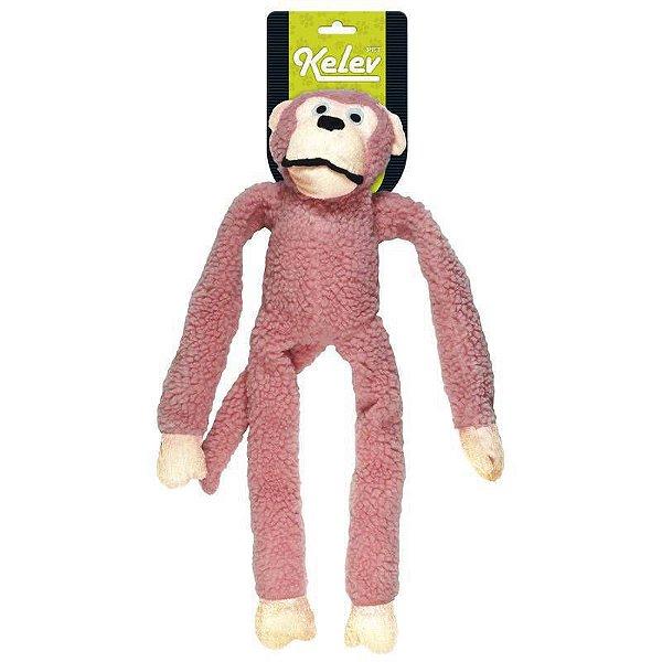 Macaco Pelúcia Rosa