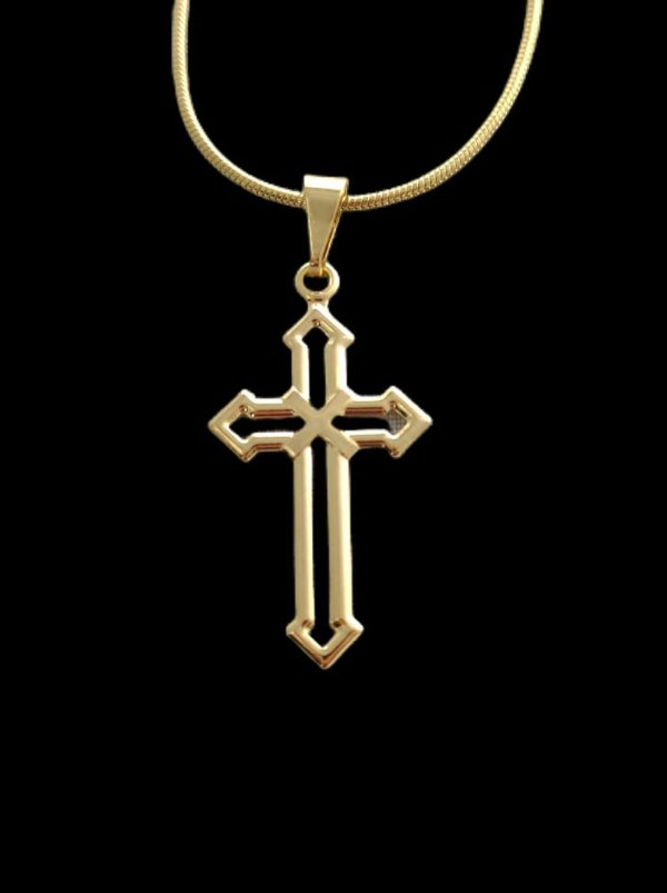 Pingente Cruz de Malta - 1,5 X 2,9cm - Banhado a ouro 18k
