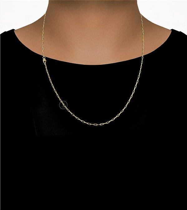 Corrente Cadeado Cartie - Fecho Mosquetão (2MM) -60cm - 5g - Banhado a ouro 18k