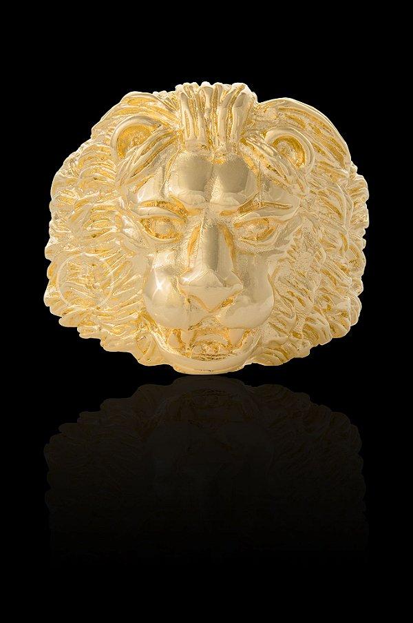 Anel Face de Leão - Numeração 20,22,24,26,28 e 30 - Banhado a ouro 18k
