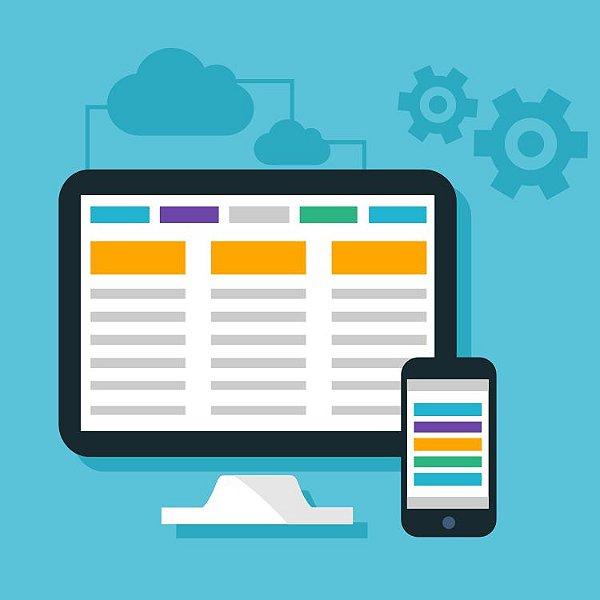 Criação de Site Institucional com versão desktop e mobile
