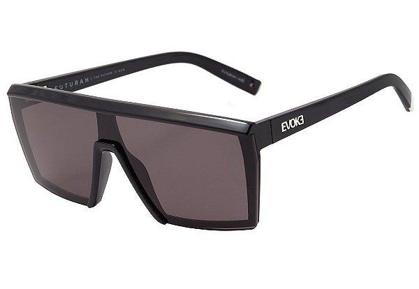 9092072da720f Evoke Futurah - Óculos de Sol - Black Shine Silver Gray - dlqt co.