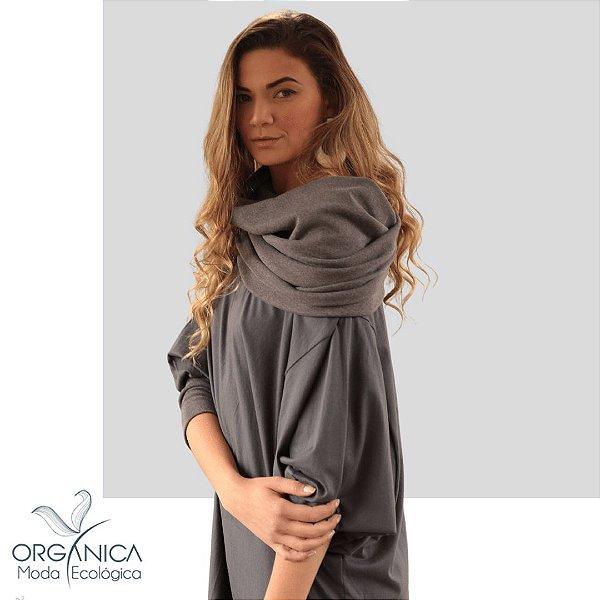 Vestido Morcego Cinza