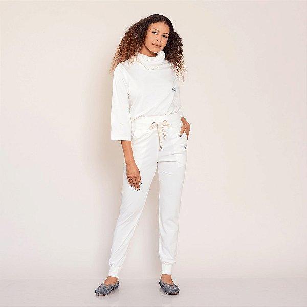 Calça comfy off white