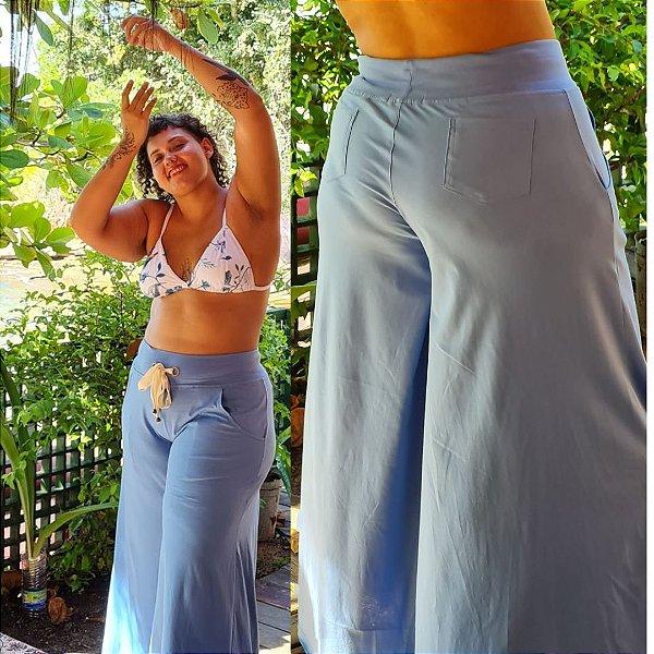 Pantalona Color Azul sky