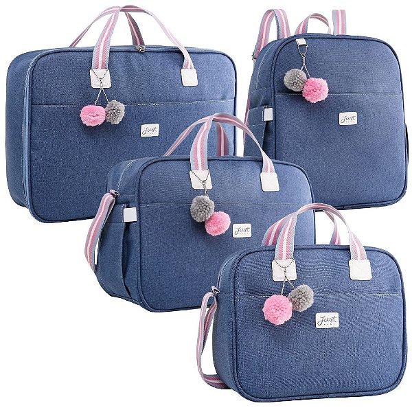 Kit Bolsas de Maternidade Color Rosa - Just Baby (4 peças)