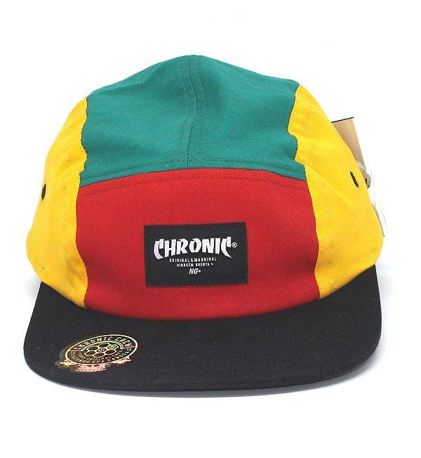 Boné Five Panel Chronic Fita Reggae
