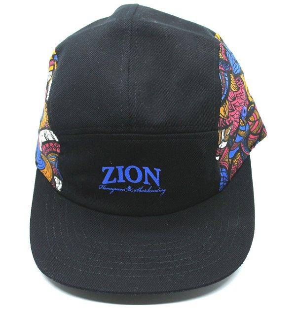 Boné Five Panel Zion Estampado Azul (escrita)