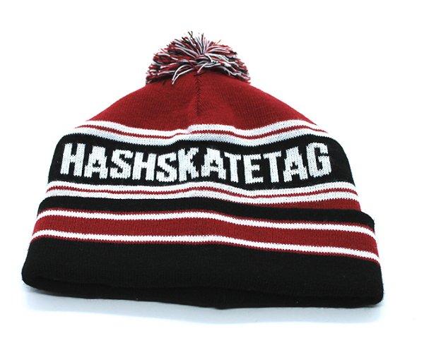 Touca Hashskatetag Preta/Vermelha