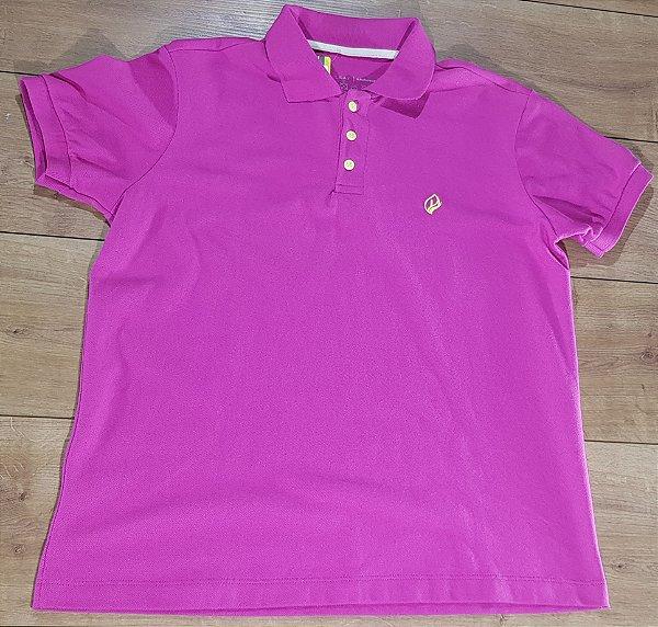 Camiseta Polo Rosa Dry Leaf