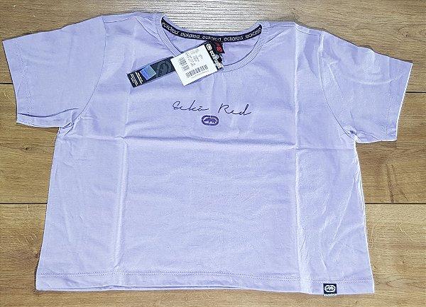 Camiseta Fem Ecko Cropped Lilas