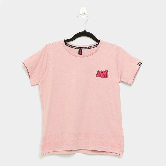 Camiseta Fem. Ecko Estampada Rosa