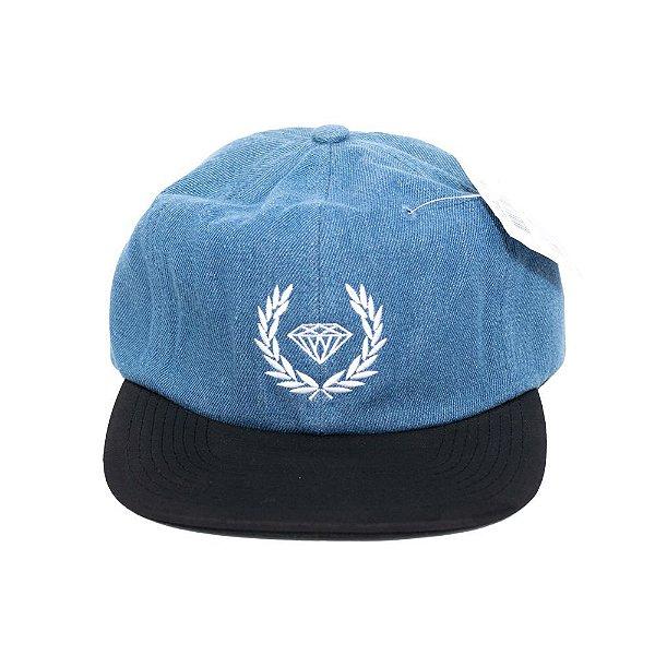 Boné Diamond Aba Reta Brilliant Crest Azul Strapback