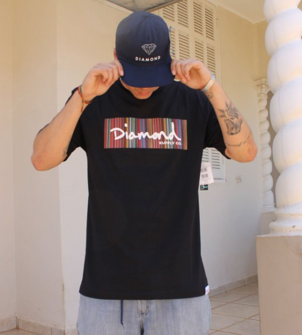 Camiseta Diamond Color Ply Box Logo Tee A20DMPA014
