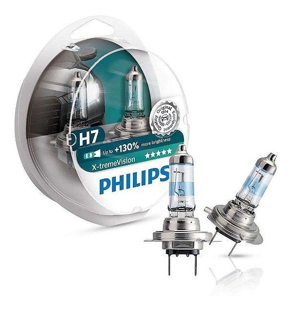 Par De Lâmpada Philips X-treme Vision H7