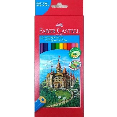 Lápis de Cor 12 Cores Sextavado Faber-Castell