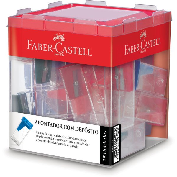 Apontador Com Deposito Transparente Color Grande Faber-Castell