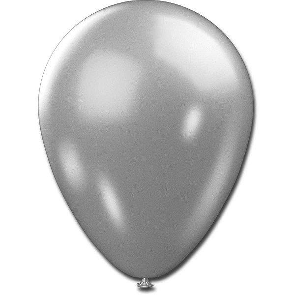 Balão Metalizado N.090 Prata Sao Roque