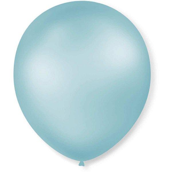 Balão Perolado N.070 T. Pastel Azul Claro Sao Roque