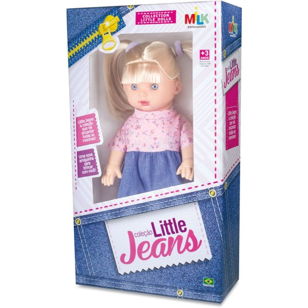 Boneca Little Jeans Loira 34cm Milk