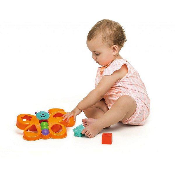 Brinquedo Educativo Borboleta Espoleta C/Blocos Tateti