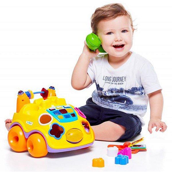 Brinquedo Educativo Falafone C/Luz E Sons Tateti
