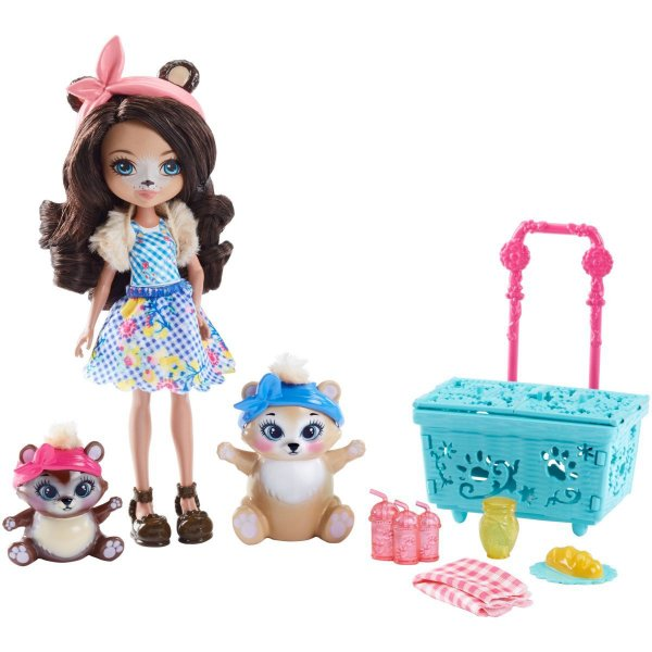 Brinquedo Para Menina Enchantimals Conj. Historias Mattel