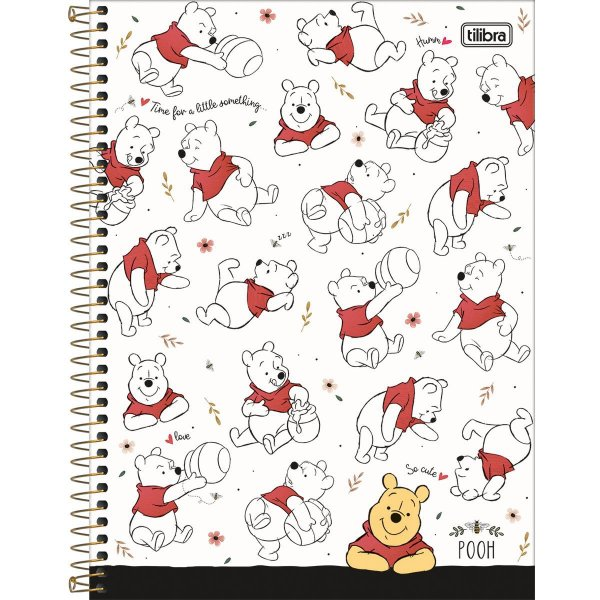 Caderno 01x1 Capa Dura 2020 Pooh 80fls. Tilibra