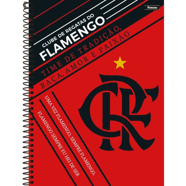 Caderno 10x1 Capa Dura 2020 Flamengo 200fls. Foroni