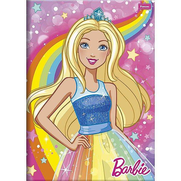 Caderno Brochurão Capa Dura Barbie Dreamtopia 96fls. Foroni