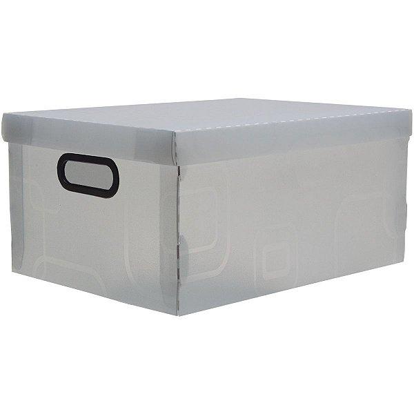 Caixa Organizadora Grande 42x31x20cm. Cristal Dello