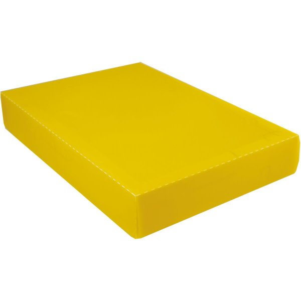 Caixa Organizadora Padrao Camisa Amarelo Dello