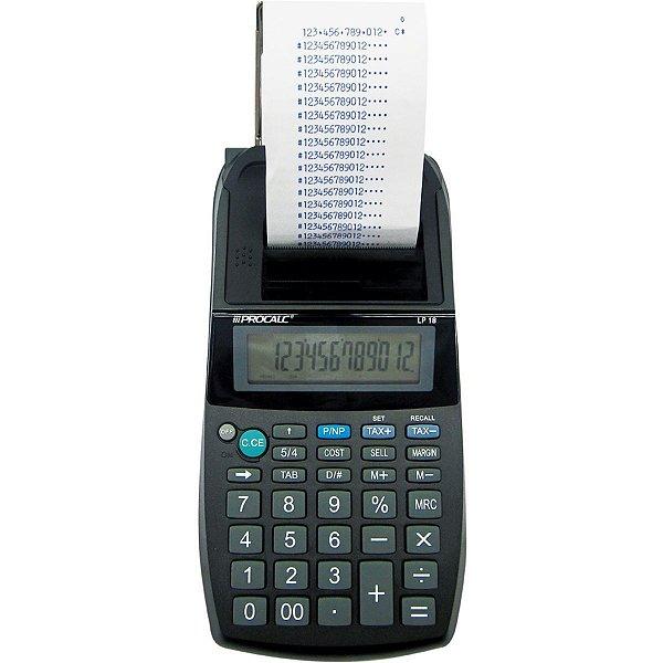 Calculadora De Impressão 12dig.Bob.57mm.Bivolt Lip 18t Procalc