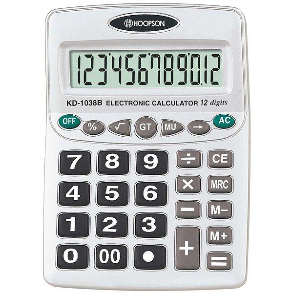 Calculadora De Mesa 12digitos A Pilha Hoopson
